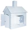 Kreul 39106 - Joypac Bastelkarton Spielhaus XL, ca. 44,5 x 41 x 57 cm, weiß zum selber Gestalten - 1
