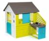 Smoby 810711 Pretty Spielhaus mit Küche, grau,grün,türkis - 1