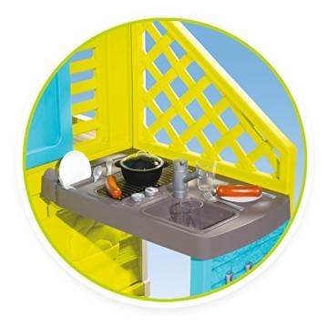 Smoby 810711 Pretty Spielhaus mit Küche, grau,grün,türkis - 3