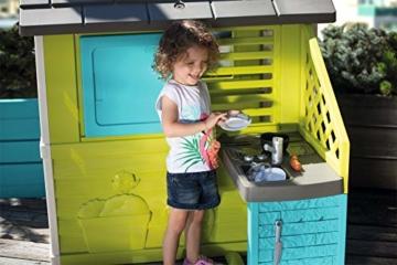 Smoby 810711 Pretty Spielhaus mit Küche, grau,grün,türkis - 5