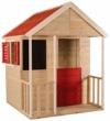 Wendi Toys Kinder Sommerhaus aus Holz | Garten Spielhaus öffnen mit Balkon, Spielzeug Regal, Fensterläden, Tafel - 1