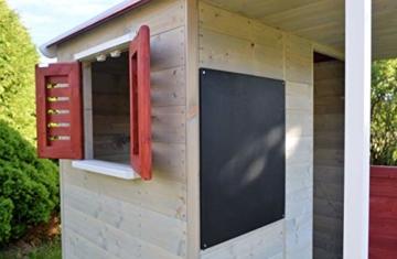 Wendi Toys Kinder Sommerhaus aus Holz | Garten Spielhaus öffnen mit Balkon, Spielzeug Regal, Fensterläden, Tafel - 4